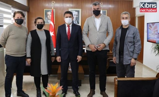 Oğuz, KKTC Karadeniz Kültür Derneği yönetim kurulu üyelerini kabul etti