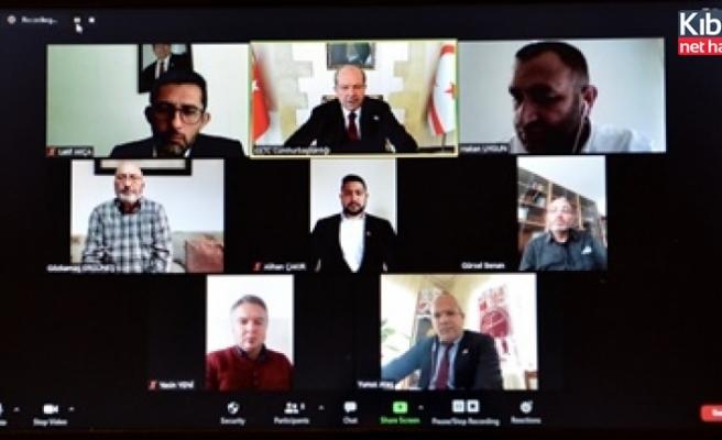 Tatar, bazı sivil toplum örgütleri ile video konferans toplantısı yaptı