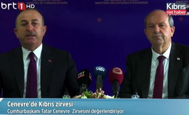 Çavuşoğlu: Yeni bir müzakere sürecinin iki toplum arasında değil, 2 devlet arasında olması gerektiğini söyledik