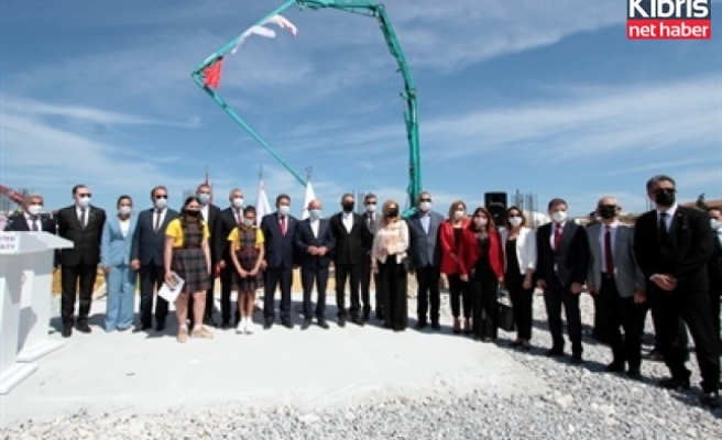 İskele'de inşaa edilecek Dr Suat Günsel devlet ilkokulu'nun temelleri dün atıldı