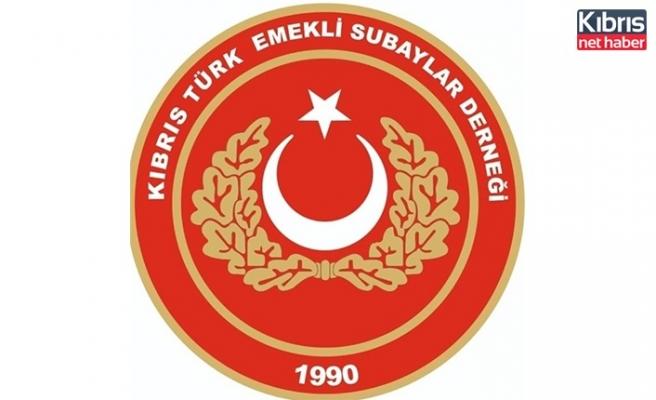 Kıbrıs Türk Emekli Subaylar Derneği'den başsağlığı mesajı