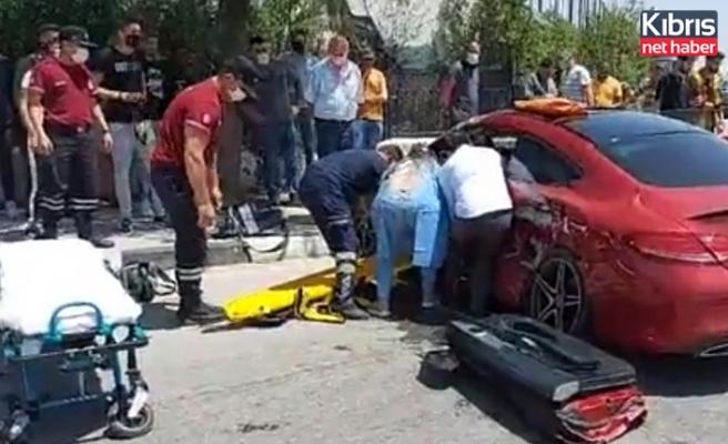 Lefkoşa Dr. Fazıl Küçük bulvarı'nda trafik kazası.. Biri ağır 5 yaralı