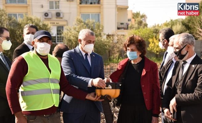 Lefkoşa Kızılbaş Bölgesi'ne yapılacak Esin Leman Lisesi'nin temeli törenle atıldı