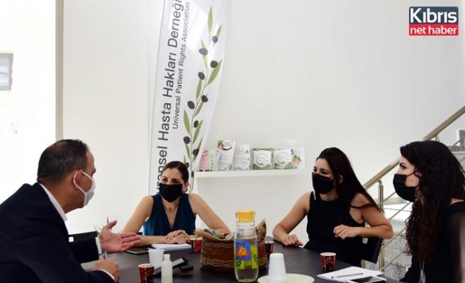 LTB Başkanı Harmancı, Evrensel Hasta Hakları Derneği'ni ziyaret etti