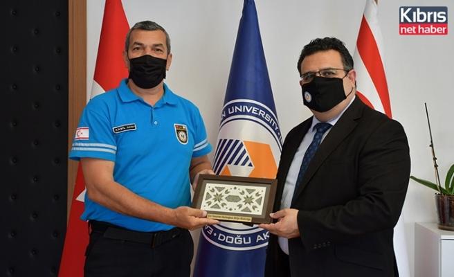 Sivil Savunma Teşkilat Başkanlığı'ndan DAÜ Rektörü Prof. Dr. Aykut Hocanın'a ziyaret