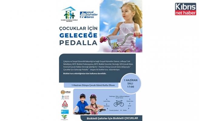"""""""Çocuklar için geleceğe pedalla """" sloganıyla bisiklet turu düzenleniyor"""