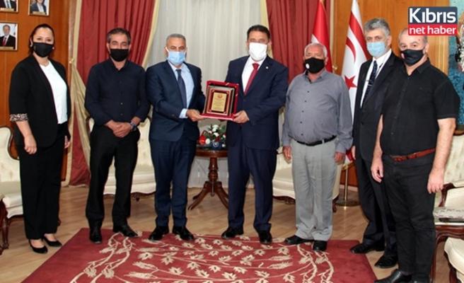 Saner, KKTC kempo savunma sporları federasyonu heyetini kabul etti