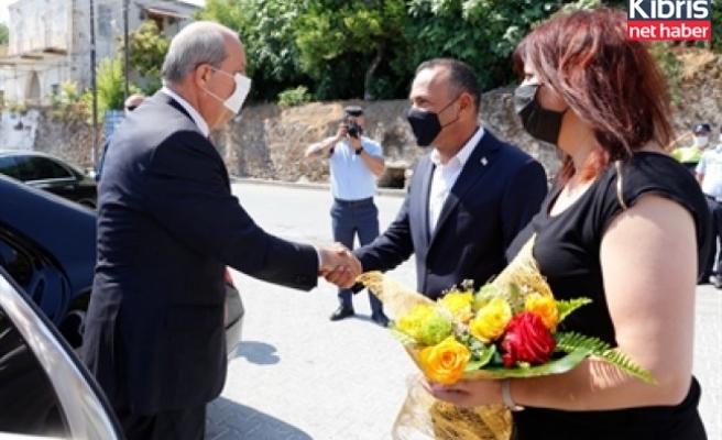 Cumhurbaşkanı Tatar Lefke Belediyesi'ni ziyaret etti