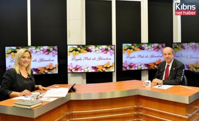 Cumhurbaşkanı Tatar Mersin'de radyo ve televizyon programlarına katıldı