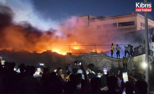 Irak'ta dün gece Covid-19 hastanesinde yangın çıktı