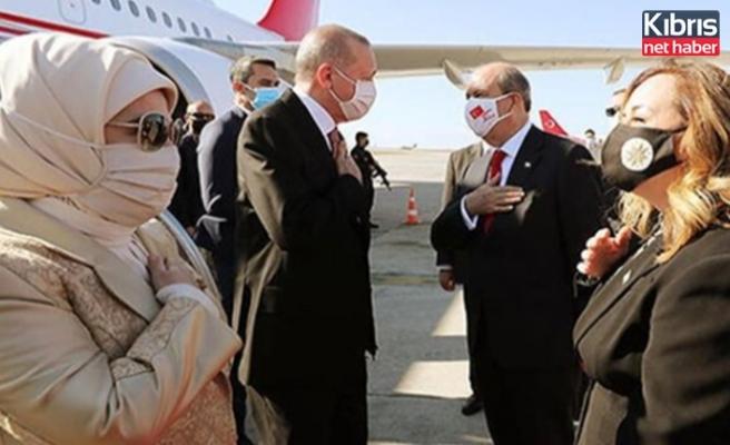 TC Cumhurbaşkanı Erdoğan KKTC'de…