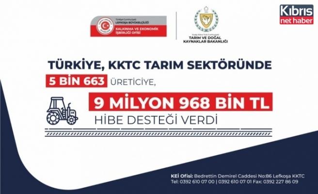 Türkiye, KKTC tarım sektöründe 5 Bin 663 üreticiye, 9 Milyon 968 Bin TL hibe desteği verdi