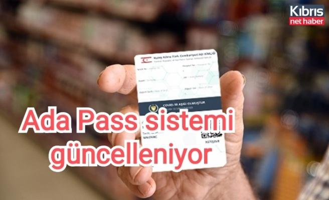 Ada Pass sistemi güncelleniyor