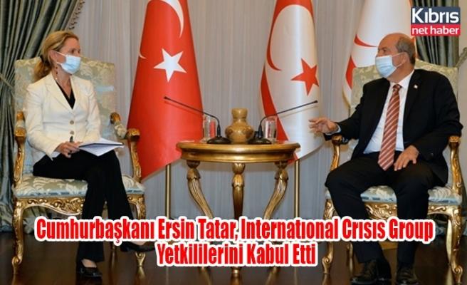 Cumhurbaşkanı Ersin Tatar, Internatıonal Crısıs Group Yetkililerini Kabul Etti