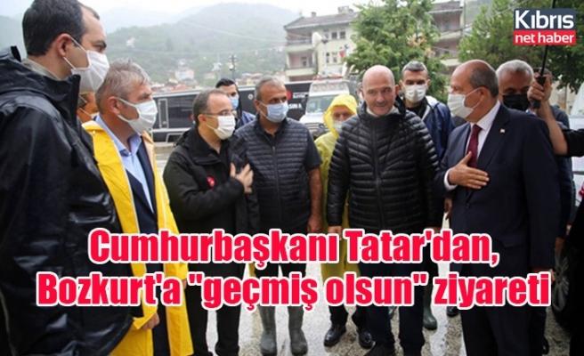 """Cumhurbaşkanı Tatar'dan, Bozkurt'a """"geçmiş olsun"""" ziyareti"""