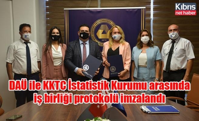 DAÜ ile KKTC İstatistik Kurumu arasında iş birliği protokolü imzalandı