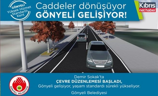Gönyeli'de Demir sokak çevre düzenleme projesi'ne başlanıyor