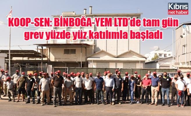 KOOP-SEN: BİNBOĞA-YEM LTD'de tam gün grev yüzde yüz katılımla başladı