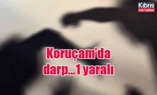 Koruçam'da darp…1 yaralı