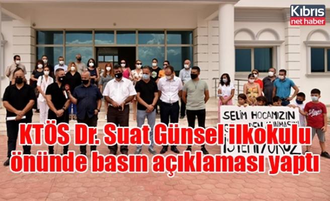 KTÖS Dr. Suat Günsel ilkokulu önünde basın açıklaması yaptı