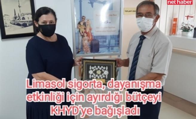 Limasol sigorta, dayanışma etkinliği için ayırdığı bütçeyi KHYD'ye bağışladı