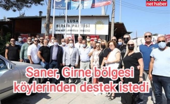 Saner, Girne bölgesi köylerinden destek istedi