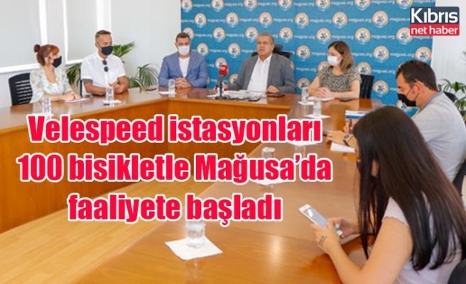 Velespeed istasyonları 100 bisikletle Mağusa'da faaliyete başladı