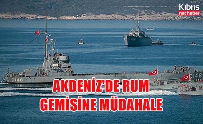 Akdeniz'de Rum gemisine müdahale