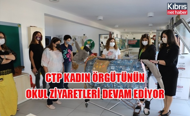 CTP kadın örgütünün okul ziyaretleri devam ediyor