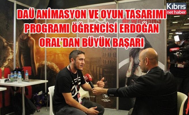 DAÜ animasyon ve oyun tasarımı programı öğrencisi Erdoğan Oral'dan büyük başarı