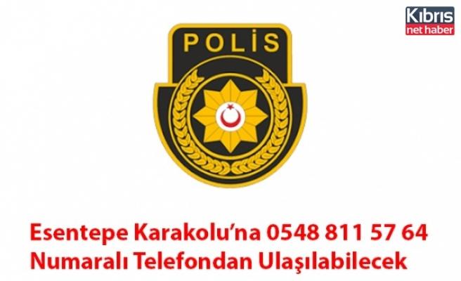 Esentepe Karakolu'na 0548 811 57 64 Numaralı Telefondan Ulaşılabilecek