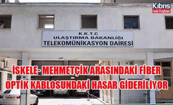İskele- Mehmetçik arasındaki fiber optik kablosundaki hasar gideriliyor