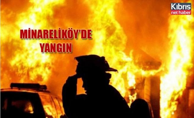 Minareliköy'de yangın