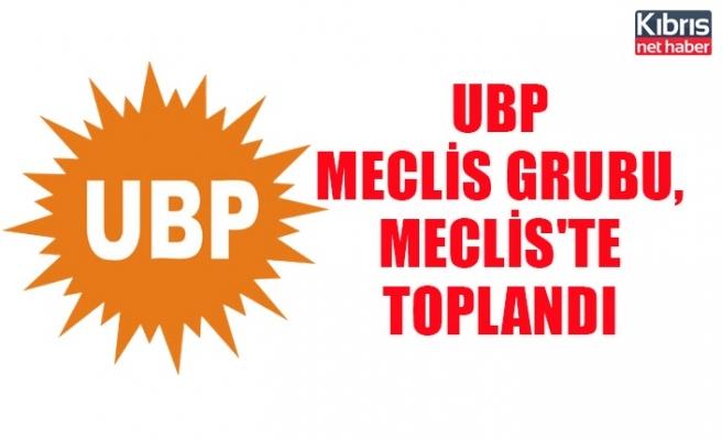 UBP meclis grubu, Meclis'te toplandı