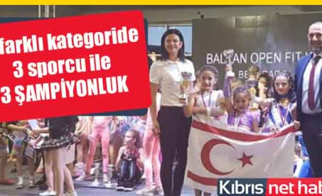 3 sporcumuzdan 3 Balkan şampiyonluğu