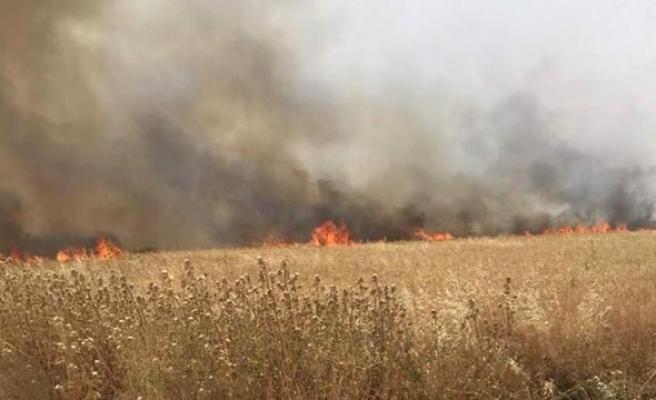 Çınarlı'da yangın! Vatandaşlardan yardım istendi