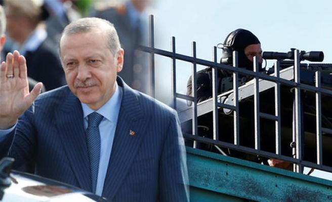 Erdoğan Almanya'da, güvenlik üst düzeyde
