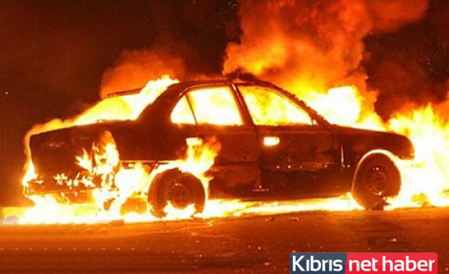 Esentepe'de araç yangını