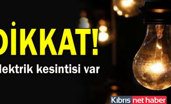Girne'de bazı bölgelere yarın elektrik kesintisi
