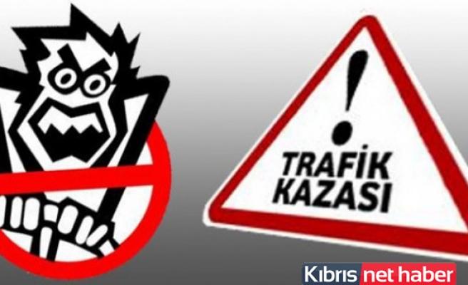 Girne'de zincirleme kaza, 4 araç birbirine girdi