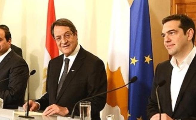 Güney Kıbrıs-Yunanistan-Mısır Zirvesi Başladı