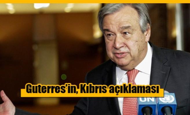 Guterres: Çözüm perspektifleri hala canlı