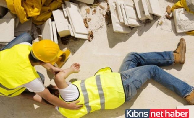 Haspolat'ta iş kazası, bir işçi yaralandı