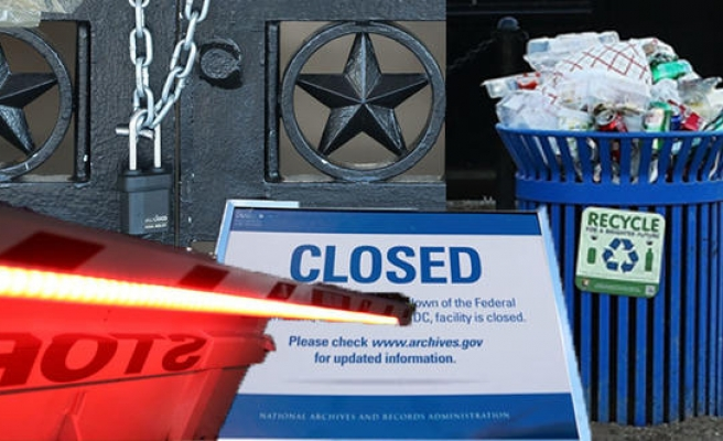 Hükümet kapandı, çöpler toplanmadı