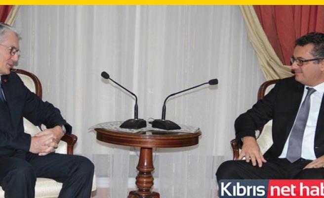 Kanbay, Erhürman'a veda ziyaretinde bulundu