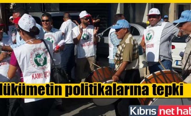 Lefkoşa'da Eylem ve grev başladı