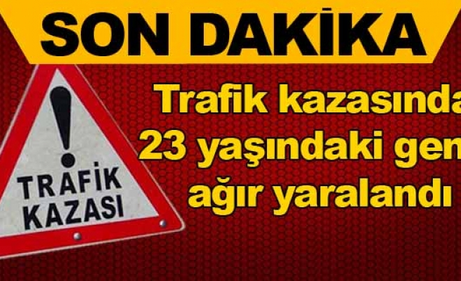 Lefkoşa'da trafik kazası: 1 ağır yaralı!
