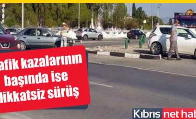 Lefkoşa'da trafik kazası korkuttu