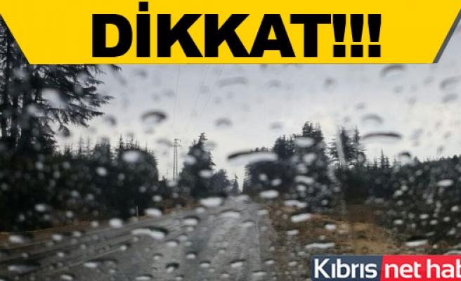 Lefkoşa'da yağmur başladı