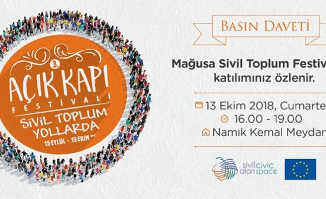 MAĞUSA SİVİL TOPLUM FESTİVALİ YARIN NAMIK KEMAL MEYDANI'NDA